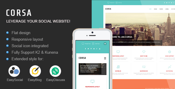 JSN Corsa - Leverage your social website