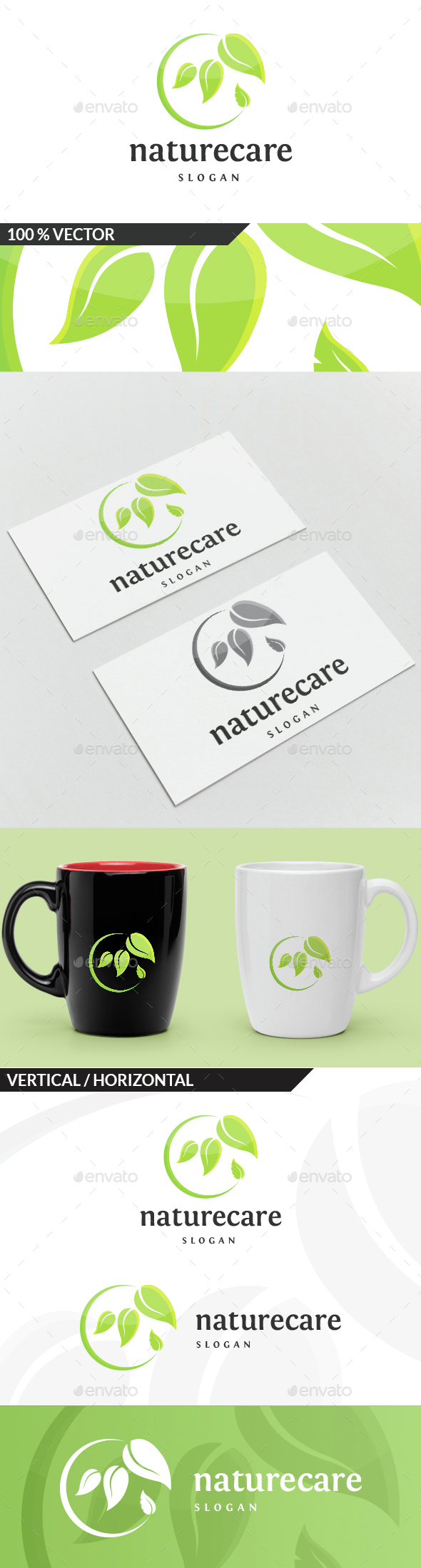 Nature Care Logo - Nature Logo Templates