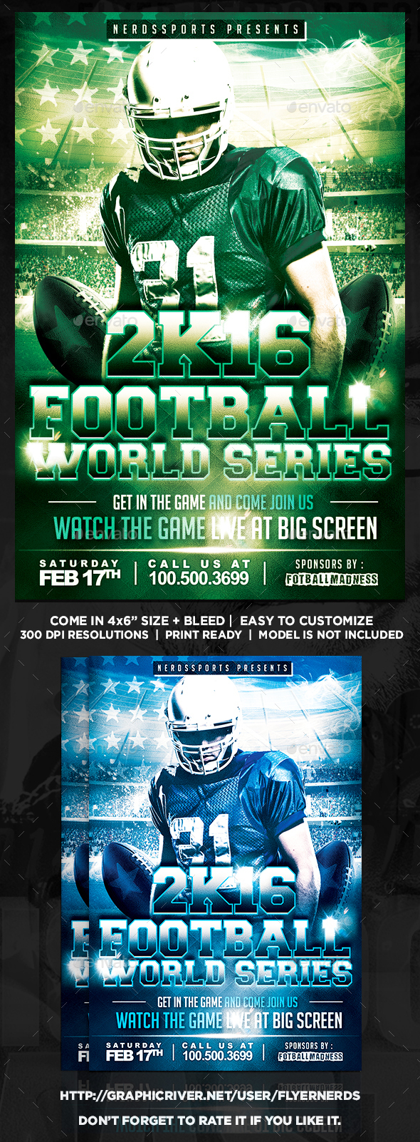 Football World Series Sports Flyer - Sports Events