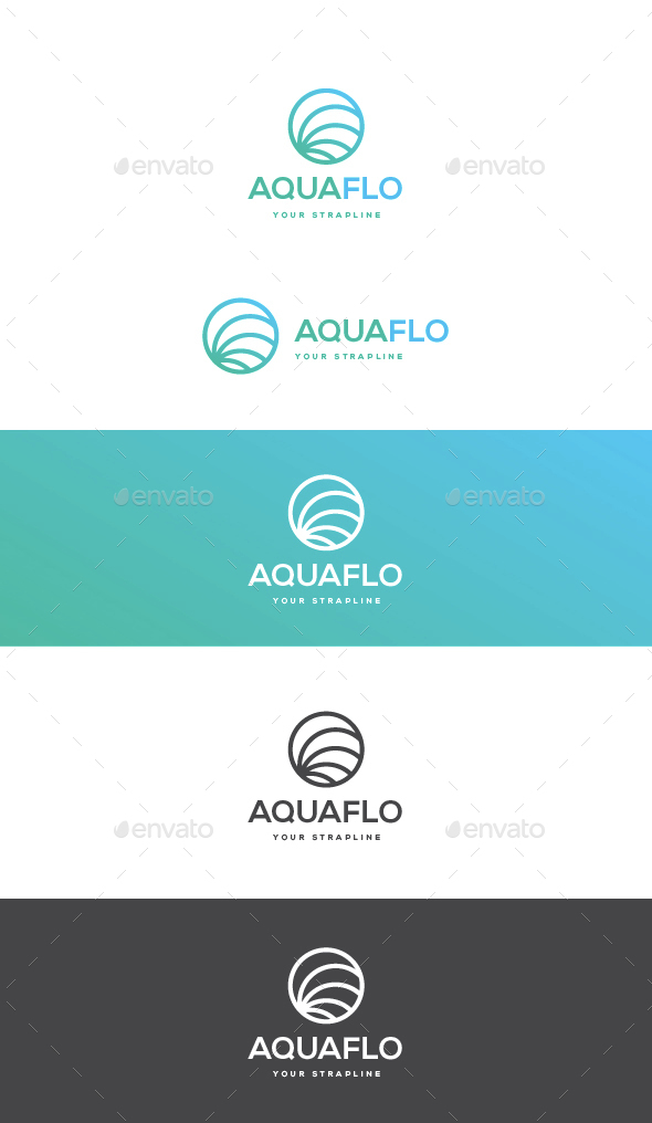 Aquaflo Logo - Vector Abstract
