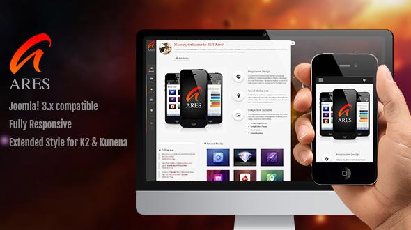 JSN Ares - Creative Joomla Portfolio Template  - Portfolio Creative