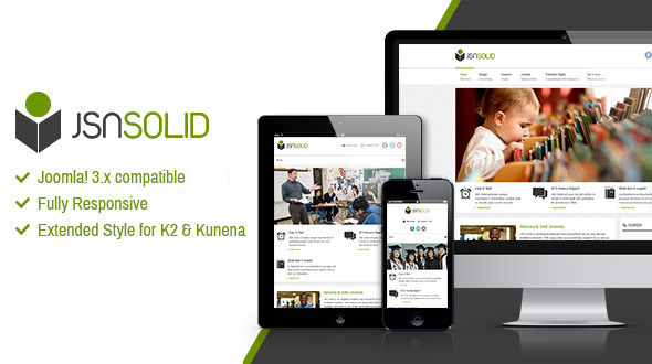 JSN Solid - Responsive Joomla Education Template - Joomla CMS Themes