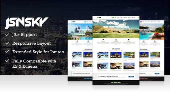 JSN Sky - Responsive Hotel Theme & Jomres support - Retail Joomla