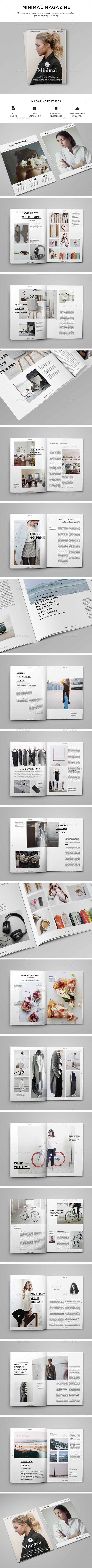 Clean Magazine 53 Pages - Magazines Print Templates