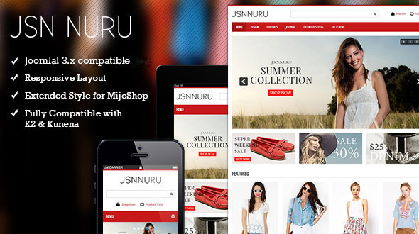 JSN Nuru - Responsive Joomla E-commerce Template - Retail Joomla