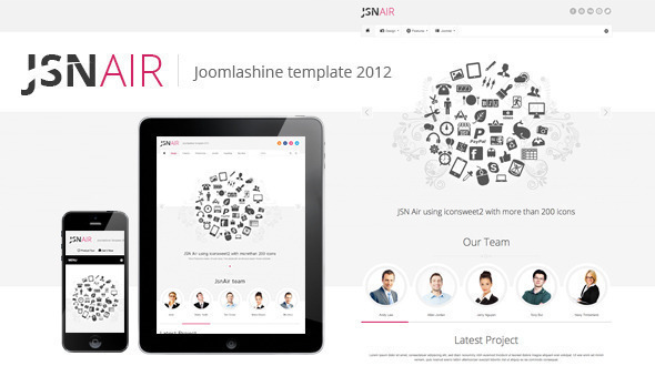 JSN Air - Responsive Business Portfolio Template  - Portfolio Creative