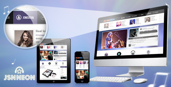 JSN Neon - Joomla Music Theme & JomSocial support - Music and Bands Entertainment