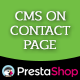 CMS On Contact Page