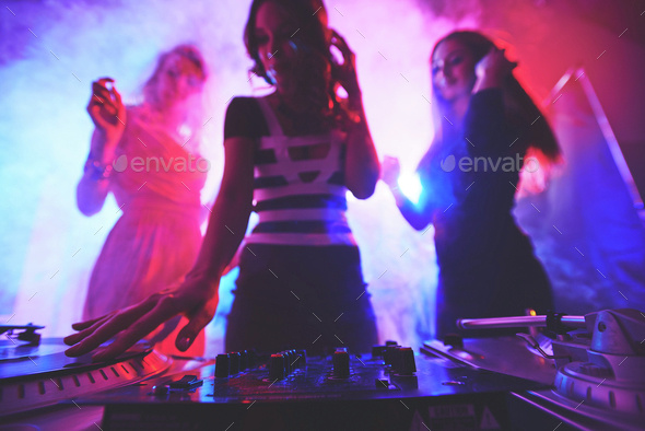 Female deejay - Stock Photo - Images