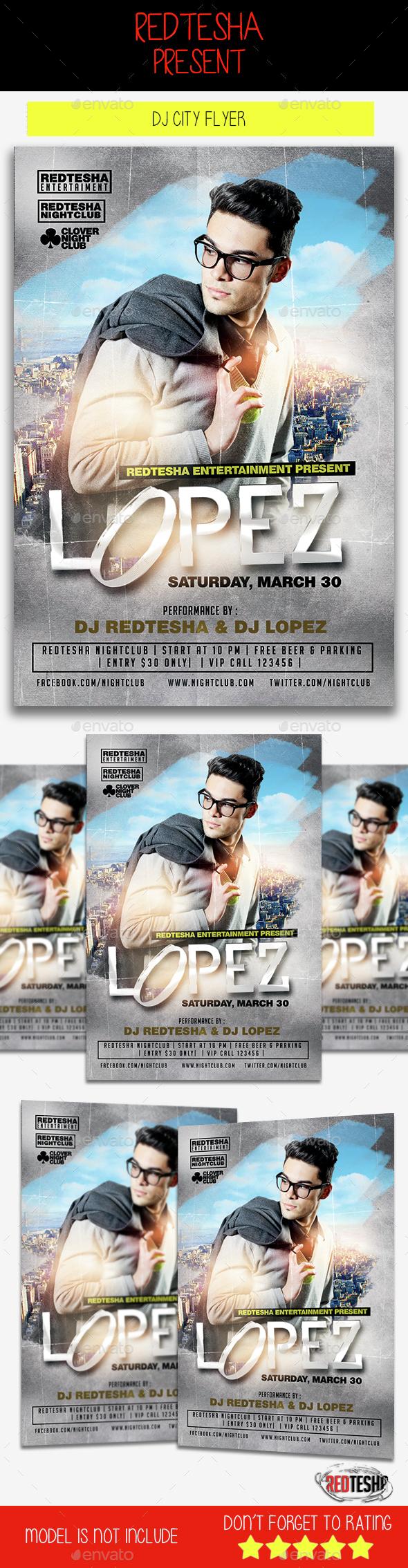 DJ City Flyer - Clubs & Parties Events