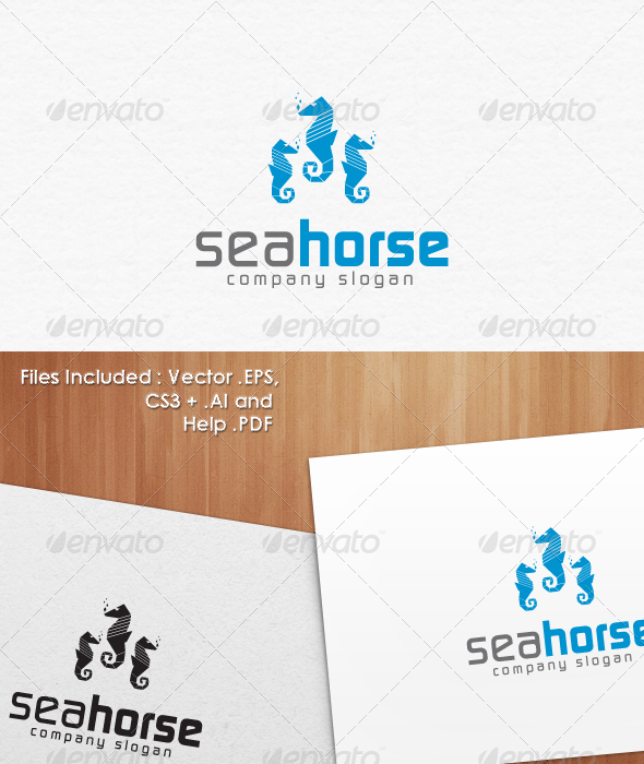 Sea Horse Logo Templates - Animals Logo Templates