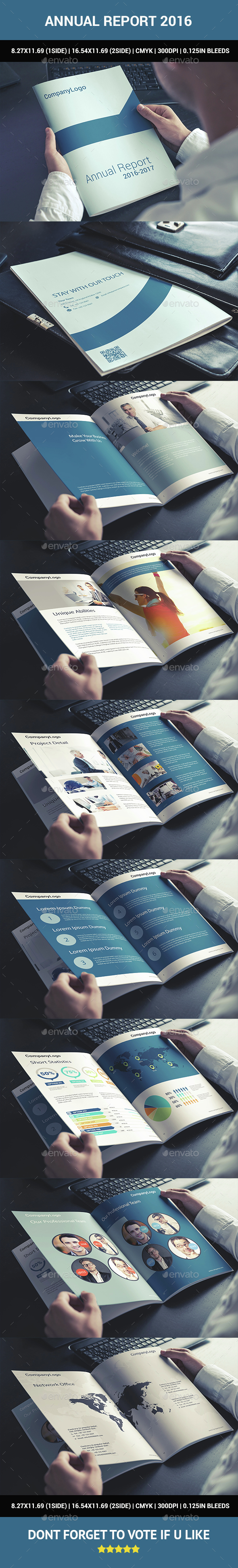 Annual Report 2016 - Brochures Print Templates