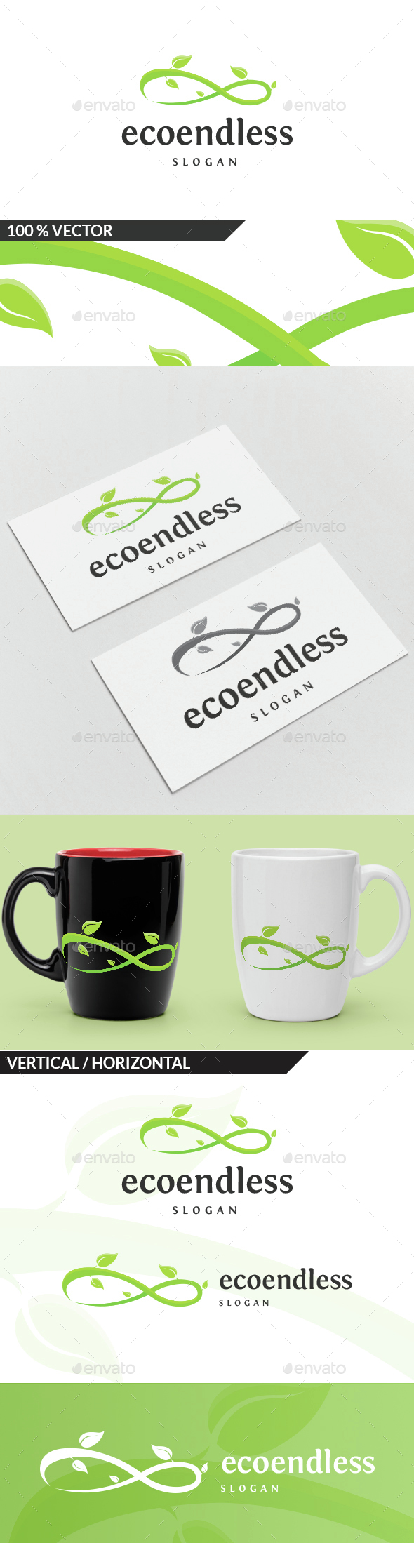 Eco Endless Logo - Nature Logo Templates