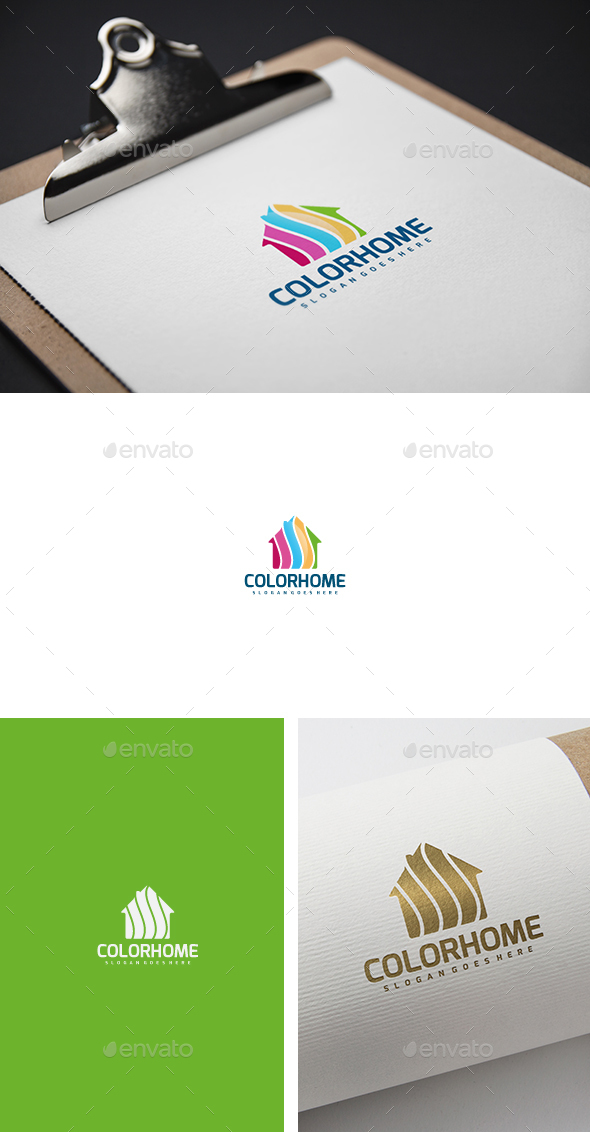 Colorful Painting House Logo - Abstract Logo Templates