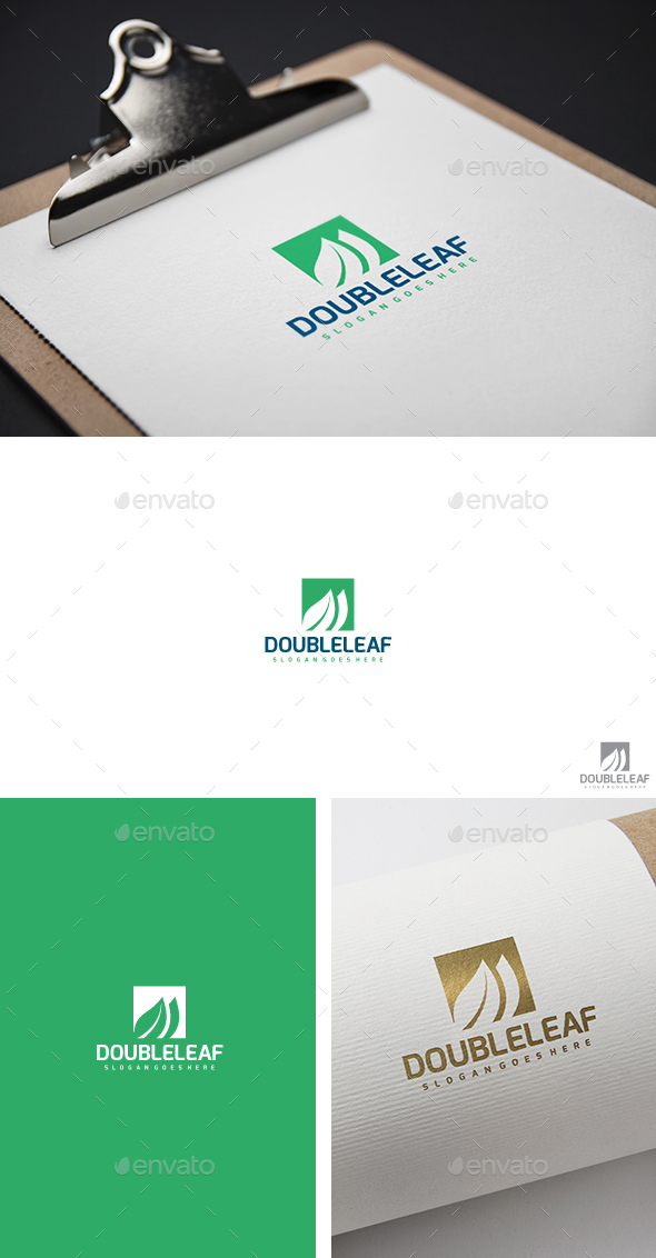Double Leaf Logo - Nature Logo Templates