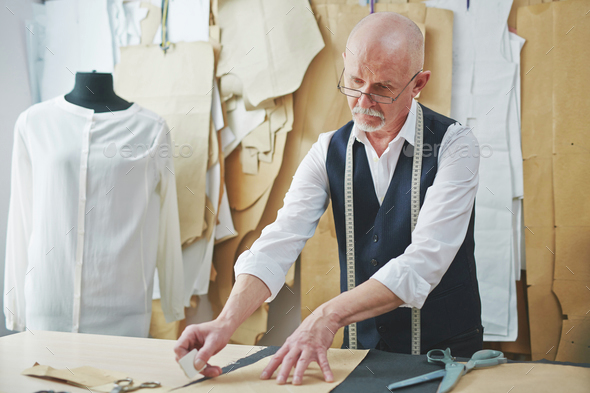 Tailor at work - Stock Photo - Images