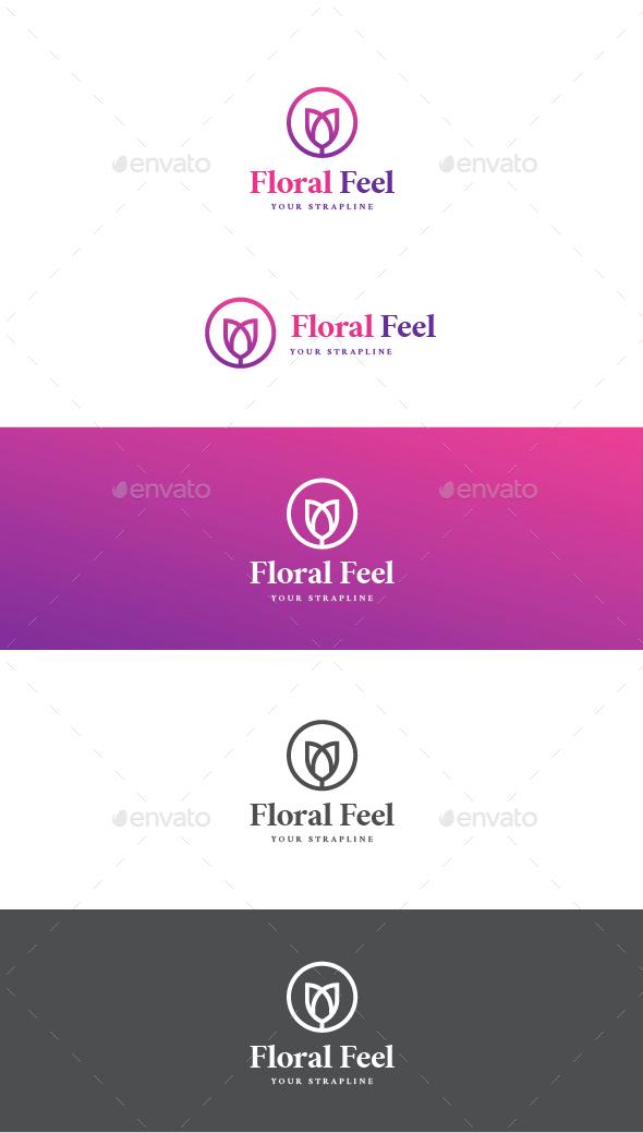 Floral Feel Logo - Nature Logo Templates