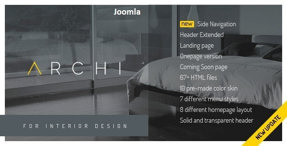 Archi – Interior Design Joomla Template
