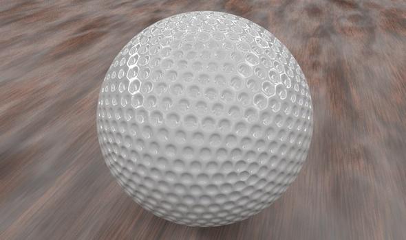 Golf ball - 3DOcean Item for Sale