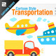 Cartoon Style Transportation - GraphicRiver Item for Sale