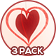Valentine's Day Hearts Hanging On Ropes - 3 Pack - VideoHive Item for Sale