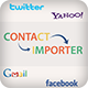 Importer Utility App for Social media contact's and Holidays Obj-C