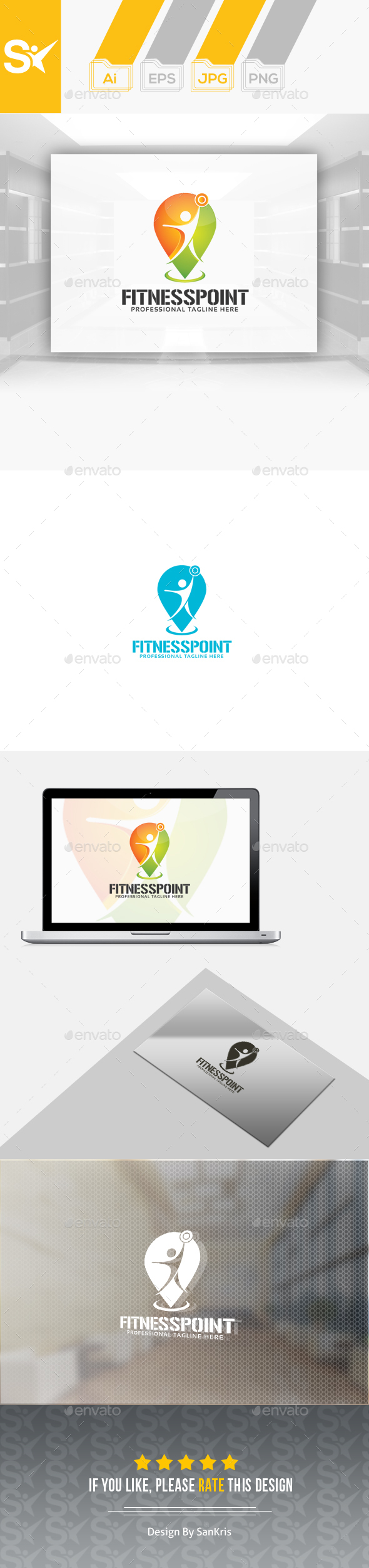 Fitness Point Logo - Humans Logo Templates
