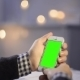 Using Smart Phone On Wood Table Various Hand Gestures Vertical  Green Screen - VideoHive Item for Sale