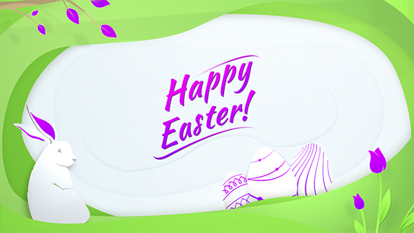 df2c6ec82155 Easter Animated Wish Card Logo Reveal by Pixel Blow