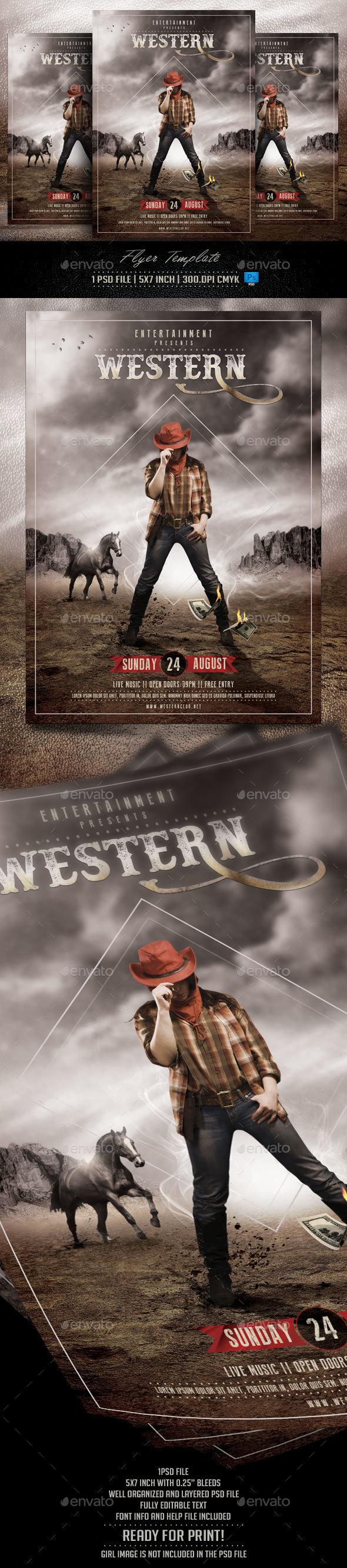 Western Flyer Template - Flyers Print Templates
