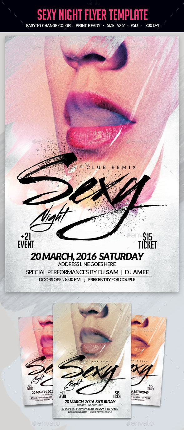 Sexy Night Flyer Template - Clubs & Parties Events