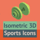 20 Isometric Sports Icons - VideoHive Item for Sale