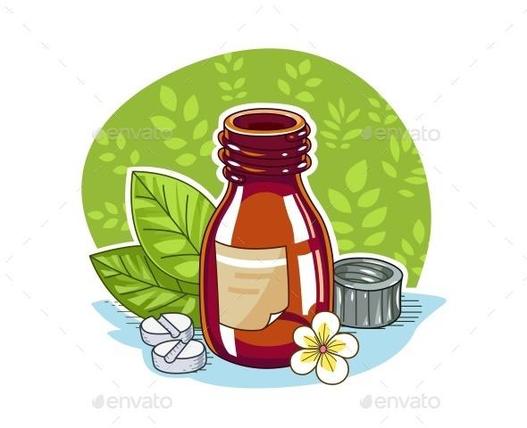 Jar with Pill - Health/Medicine Conceptual