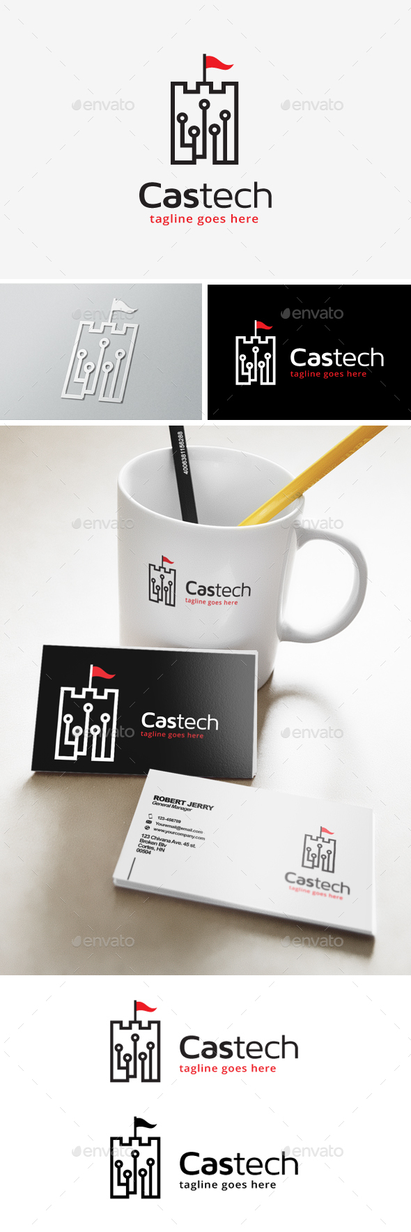 Castle Technology Logo - Objects Logo Templates