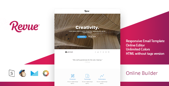 Revue – Modern Email Template + Online Access
