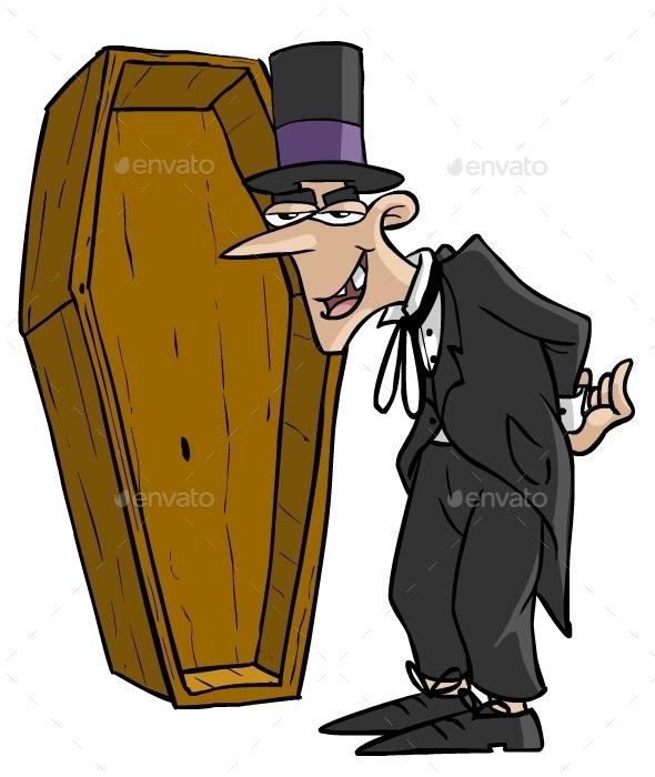 Cartoon Undertaker - People Characters