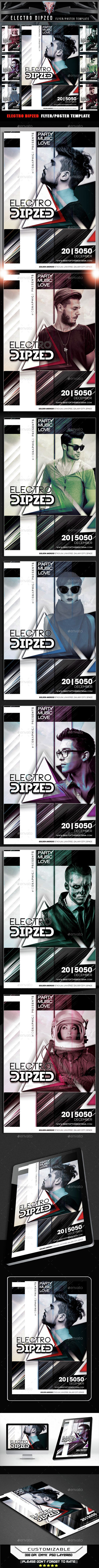 Electro Dipzed Flyer Template - Flyers Print Templates