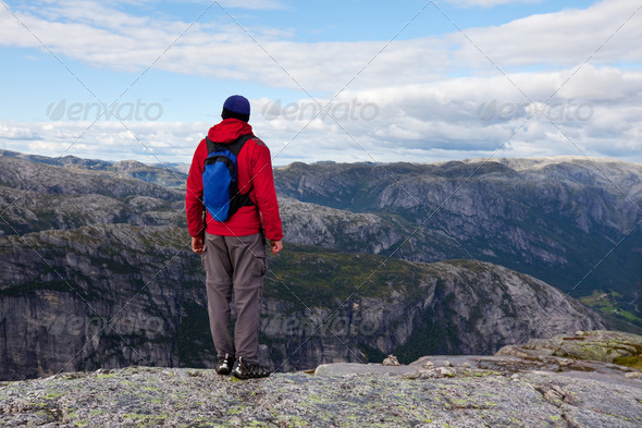 Hike in Norway - Stock Photo - Images