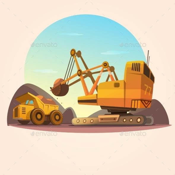 Mining Concept Illustration - Decorative Symbols Decorative