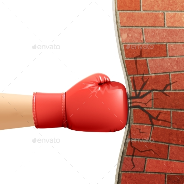 Boxing Gloves Sport Accessories Ad Illustration  - Sports/Activity Conceptual