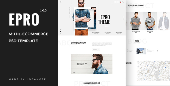 Epro – Responsive Ecommerce PSD Template