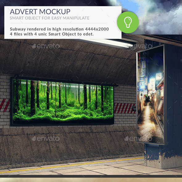Subway Station Mockups Adverts - Posters Print