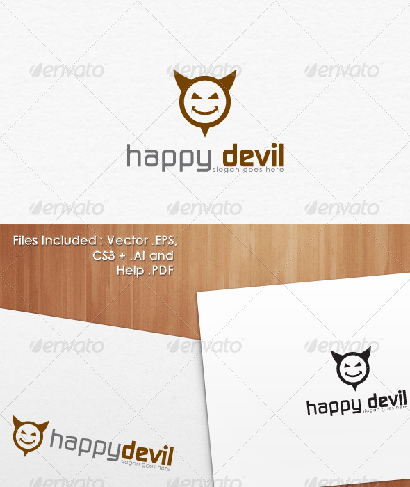 Happy Devil Logo Template Design - Abstract Logo Templates