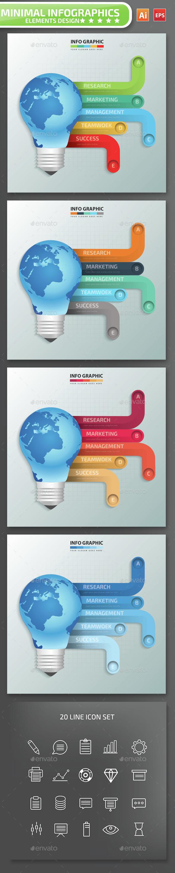 Minimal Global Infographics Design - Infographics