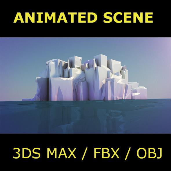 Iceberg Animated Scene - 3DOcean Item for Sale