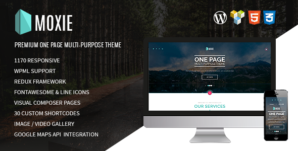 MOXIE – One-page multi-purpose WordPress theme