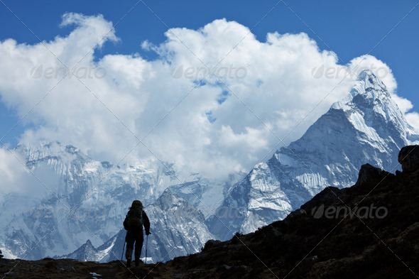 Hike in Himalayan - Stock Photo - Images