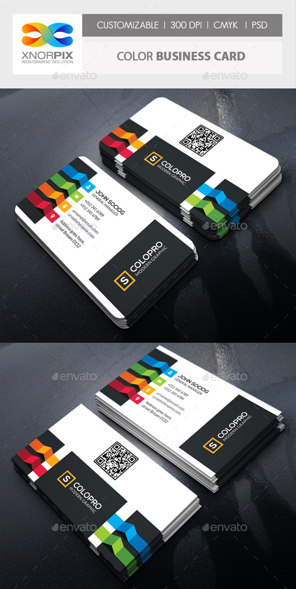 Color Business Card - Corporate Business Cards