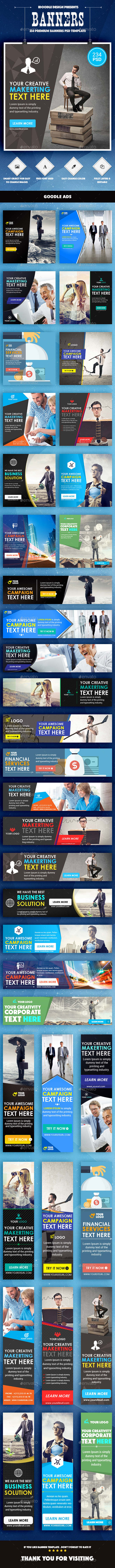 Bundle Multipurpose Banners Ads - 13 Sets - Banners & Ads Web Elements