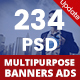 Bundle Multipurpose Banners Ads - 13 Sets - GraphicRiver Item for Sale